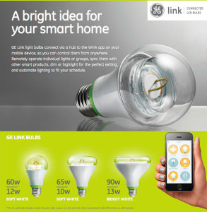 GE Link Connected Bulbs and controls