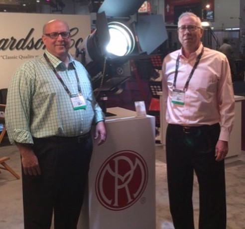 Mike Parker and Glenn Weiner introducing the 900 Watt Senior LED Fresnel